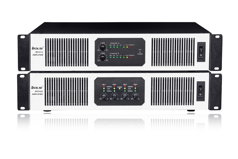 DTA Series Class H 400-1200W 8 ohm High Stability SMPS Power Amplifier